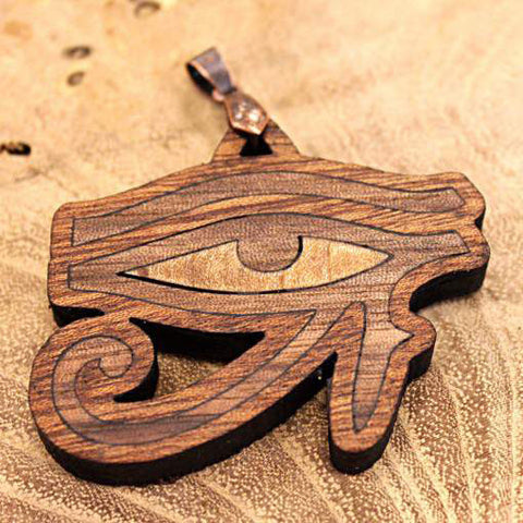 Eye of Ra Horus Lasercut inlaid pendant