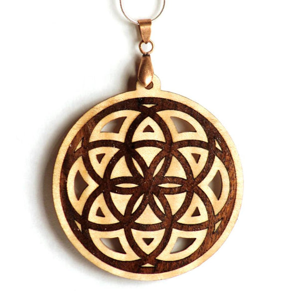 Seed Of Life Inlay pendant