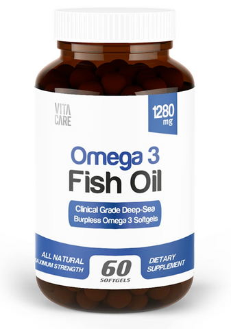 Clinical Grade Burpless Deep-Sea Fish Oil (Molecularly Distilled, Purified - 60ct/bottle)
