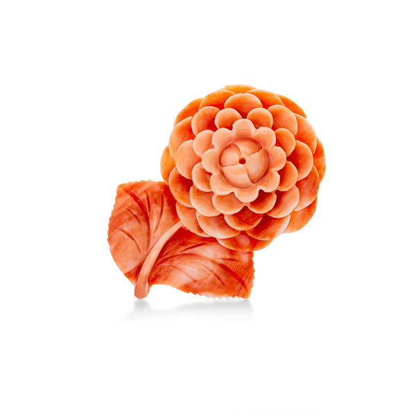 SDG-C46: Flower Carved Natural Coral