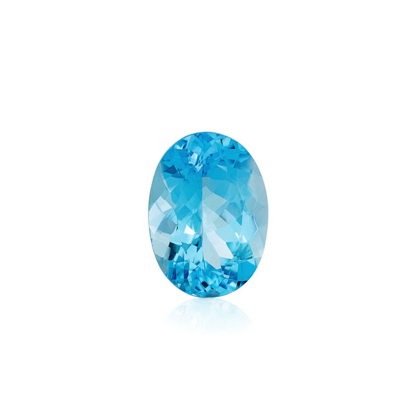 SDG-BT24: Faceted Swiss Blue Topaz Gemstone