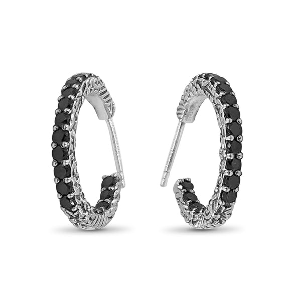 Stephen Dweck, Kyoto Collection, Kyoto, Black Diamond, White Diamond, Dimaonds, Sterling Silver, Engraved, Sterling