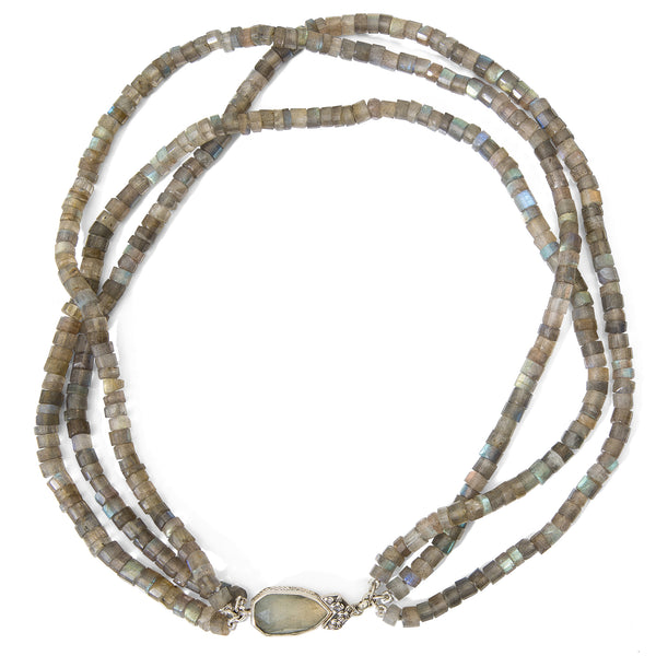Three Strand Labradorite Necklace