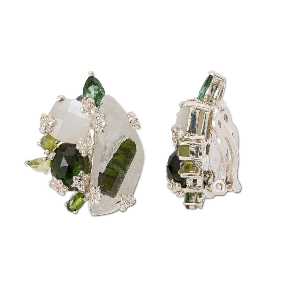 OAK-37055: Green Tourmaline, Tourmaline in Matrix, Peridot and Moonstone