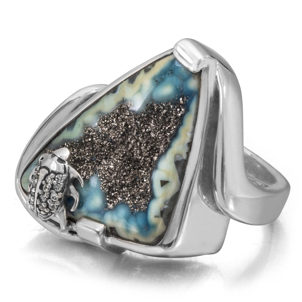 OAK-37134: Platinum Valley Druzy Ring