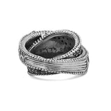 Engraved Sterling Silver Layered Ring