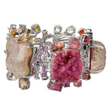 OAK-36001: Ruby, Garnet, Sapphire, Topaz, Quartz and Drusy Mermaid Bracelet