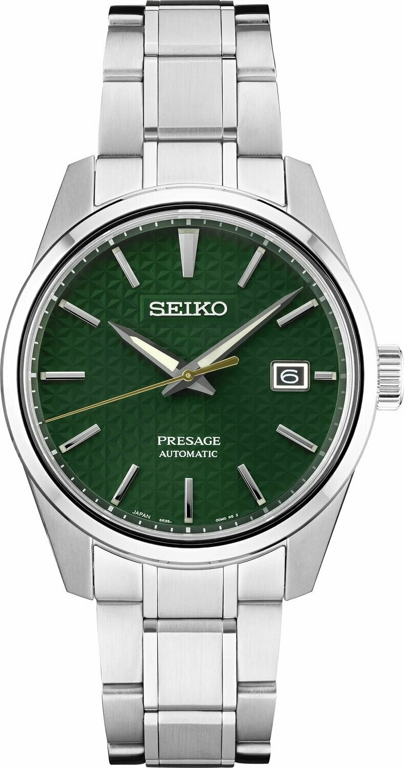 Seiko Presage Sharp Edge SPB169 Green Sharp-edged