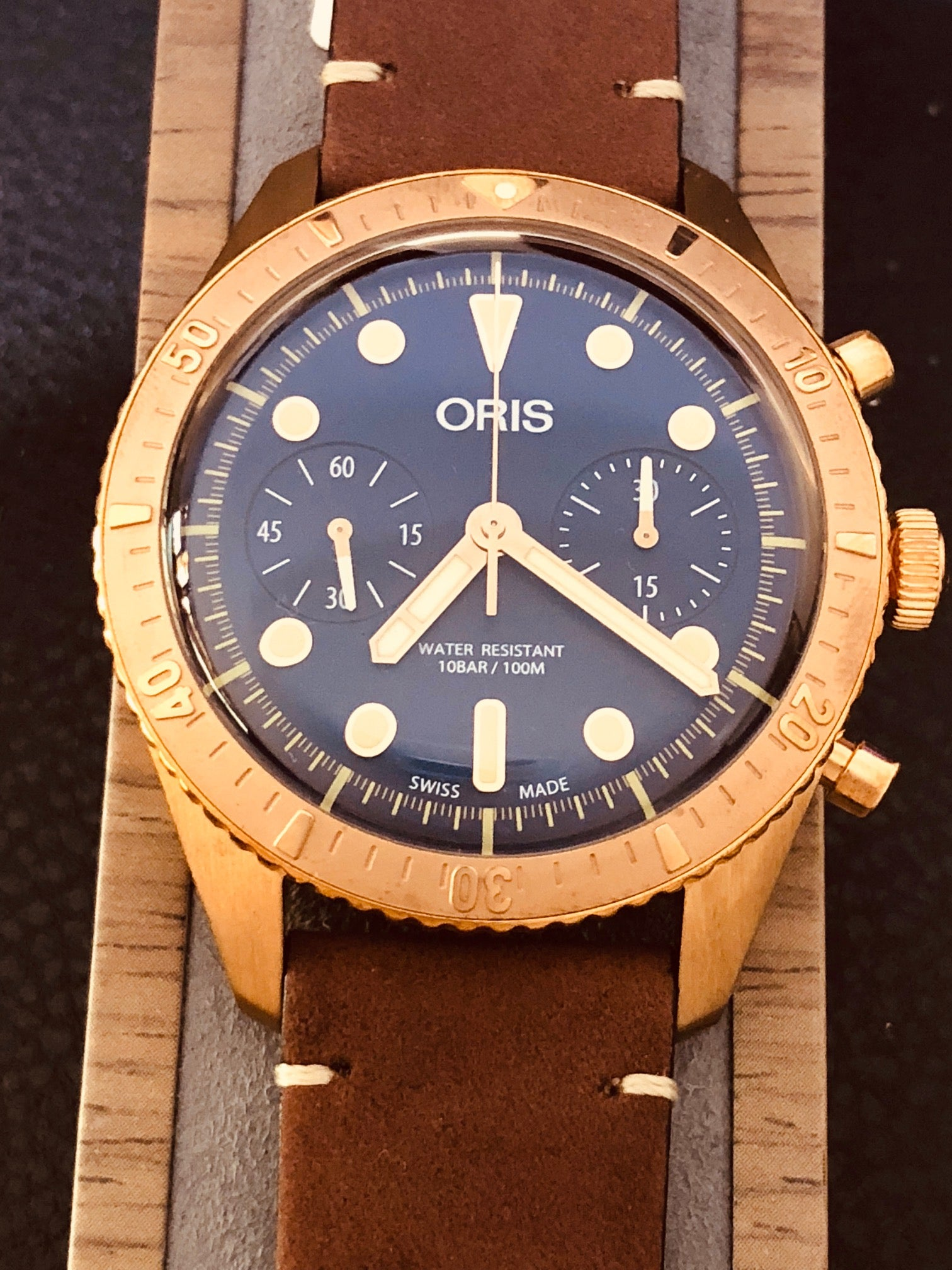 The Oris Carl Brashear Bronze Limited Edition Chronograph Dive Watch