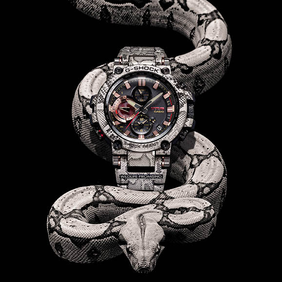 G-SHOCK RELEASES LIMITED-EDITION COLLABORATION WITH WILDLIFE PROMISING INSPIRED BY THE AFRICAN ROCK PYTHON