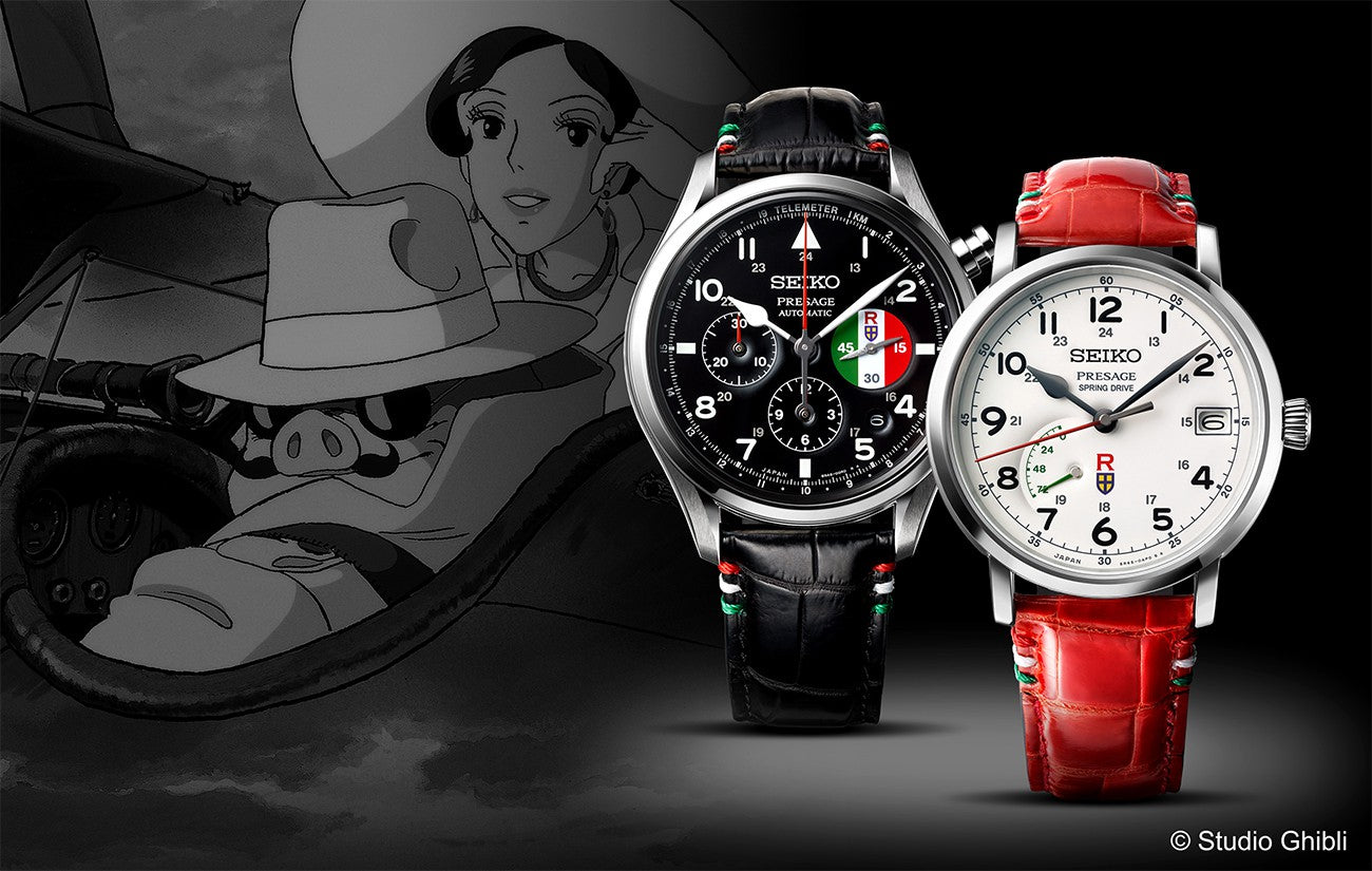 "Seiko Presage and ""Porco Rosso"" take to the skies in collaboration with an animation film classic."