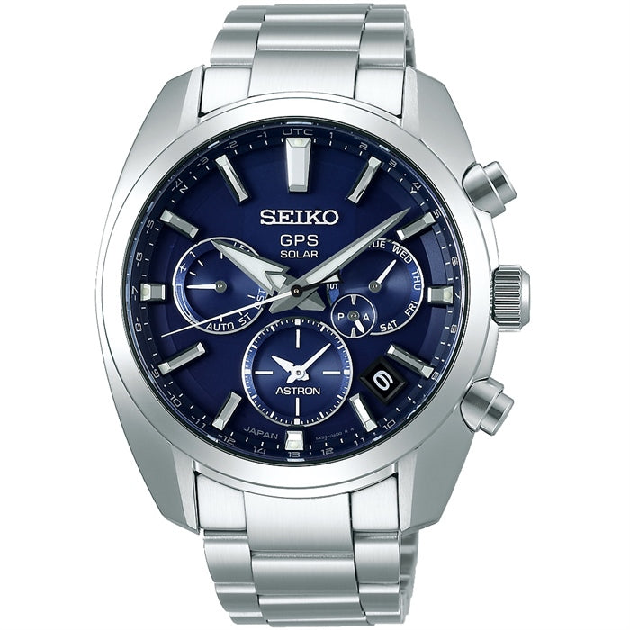 Seiko Astron GPS Solar Watch Blue Dial SSH019