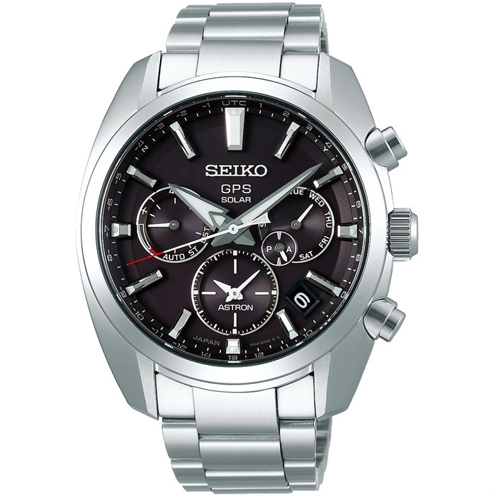 Seiko Astron GPS Solar Watch Black Dial SSH021