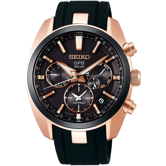 Seiko Astron GPS Solar Black Rose Dial Watch SSH024