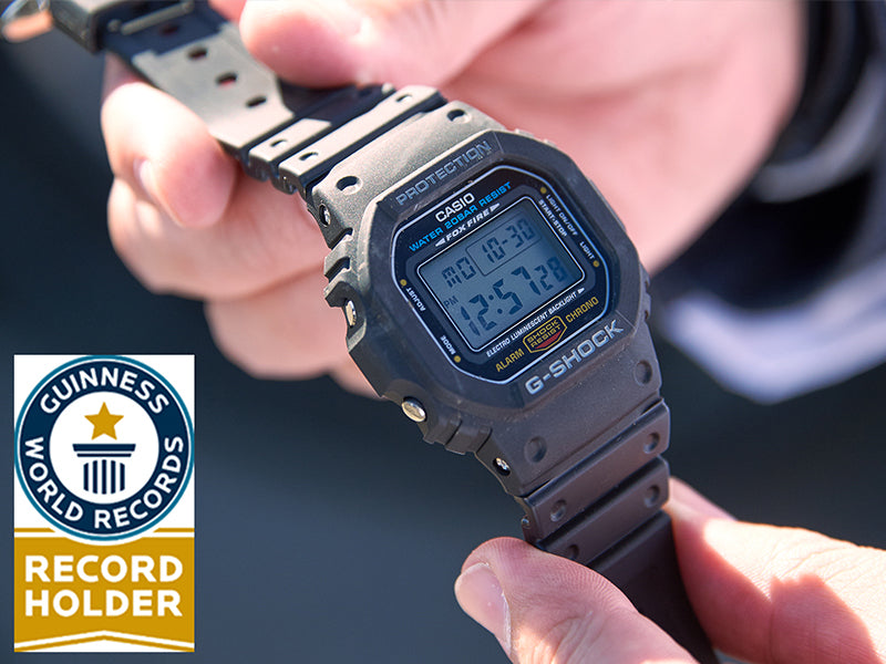 CASIO G-SHOCK OFFICIALLY BREAKS GUINNESS WORLD RECORDS TITLE
