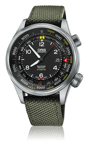 Oris Big Crown ProPilot Altimeter Watch With Feet Scale - DePaulas