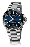 Oris Aquis Date Black and Dark Blue 43mm Dive Watch Stainless Steel