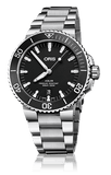 Oris Aquis Date Black 43mm Dive Watch Stainless Steel Band