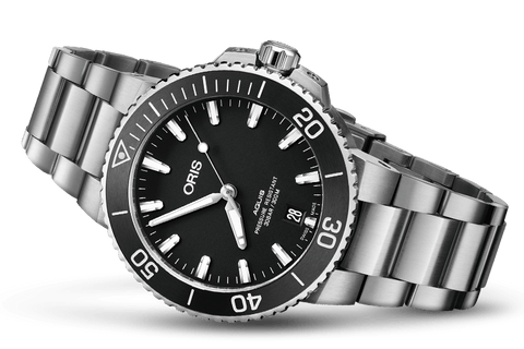 Oris Aquis Date Black 39mm Dive Watch 01 733 7732 4124-07 8 21 05EB - DePaulas