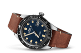 Oris Divers Sixty-Five Blue Dial Leather Band Dive Watch