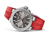 Oris Aquis Date Relief Red Rubber 43mm Dive Watch