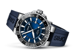 Oris Aquis GMT Blue Face Stainless Steel Blue Rubber Band Dive Watch