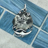 2 Reales Spain Mint 925 Sterling Silver Anchor Bezel Treasure Coin Pendant