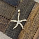 14k Yellow Gold Diamond .50cttw Starfish Pendant