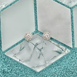 14k White Gold Diamond Halo .30cttw Post Earrings