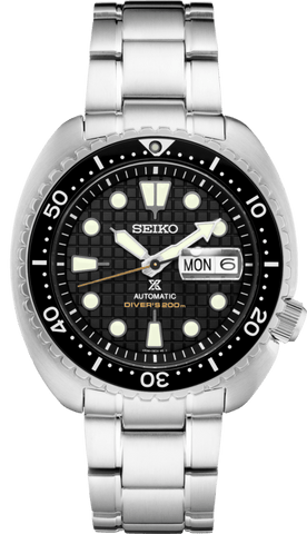Seiko Prospex King Turtle Black Stainless SRPE03 Dive Watch Automatic - DePaulas