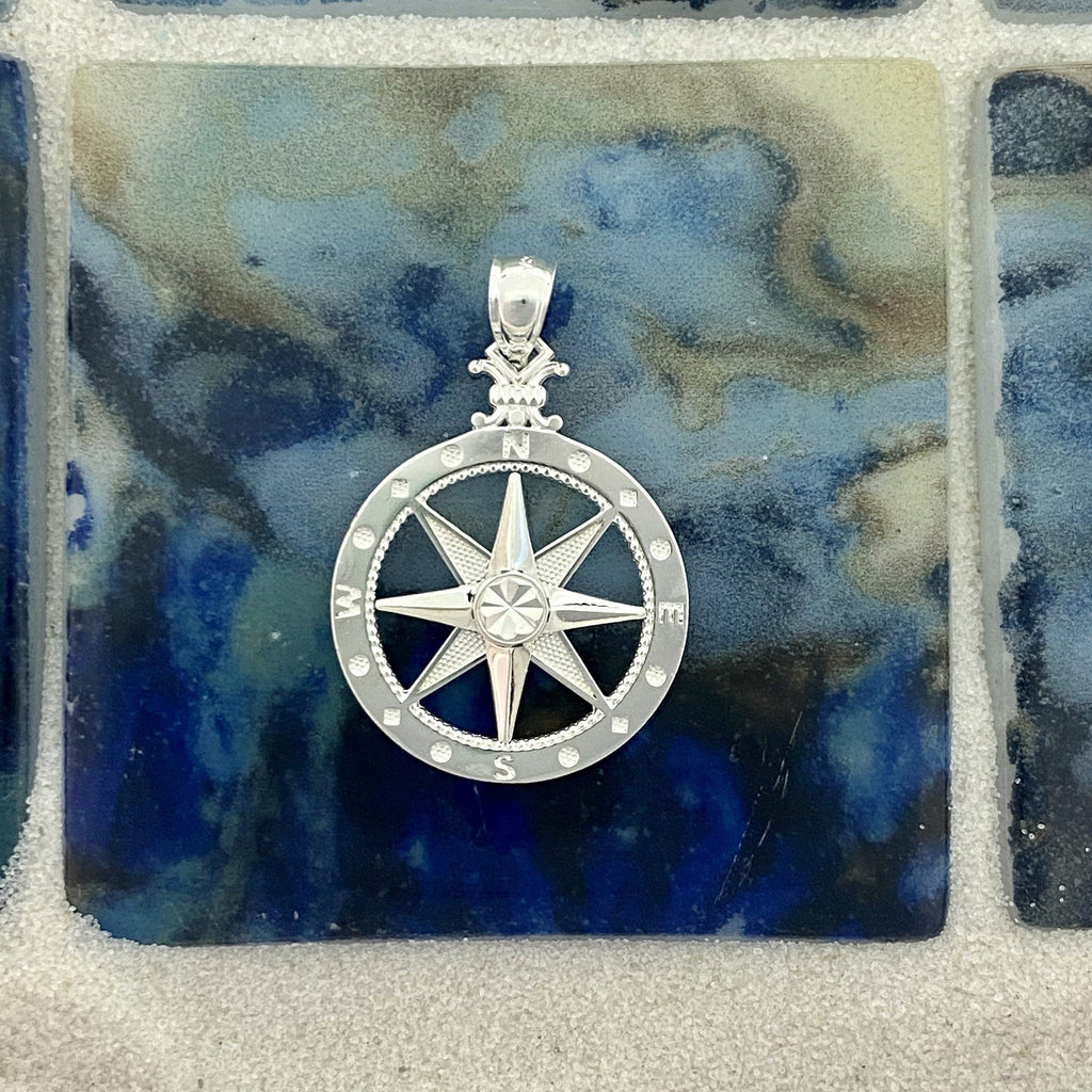 925 Sterling Silver Medium Compass Rose - DePaulas
