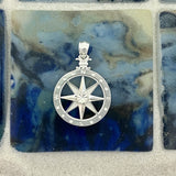 925 Sterling Silver Medium Compass Rose