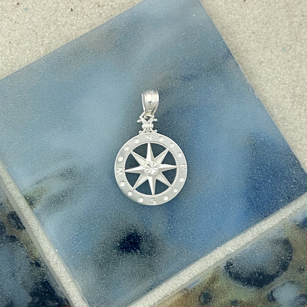 925 Sterling Silver Small Compass Rose - DePaulas
