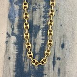 18k Yellow Gold Puffy Anchor Chain 22""