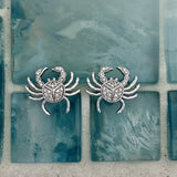 14k White Gold Diamond .43cttw Crab Post Earrings