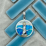 925 and 18k Gold Plating Lighthouse with Mother of Pearl, Created Opal And Cubic Zirconia Kovel Collection Pendant