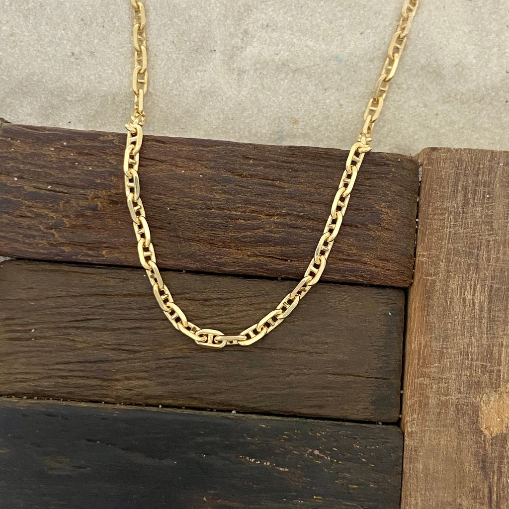 14k Yellow Gold Anchor Chain 20""