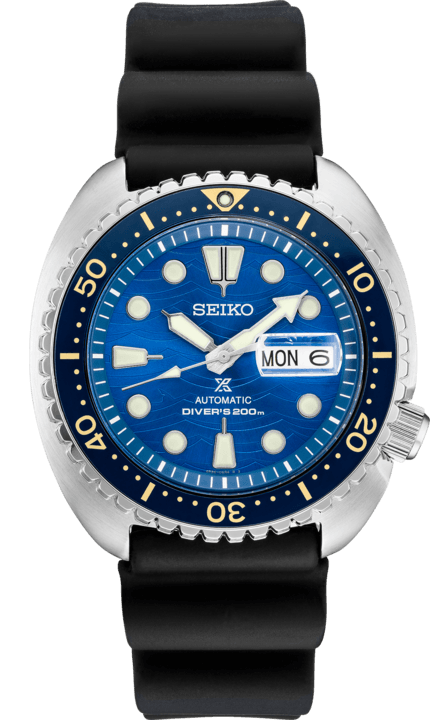 Seiko Prospex King Turtle Blue Wave Strap SRPE07 Dive Watch Automatic - DePaulas