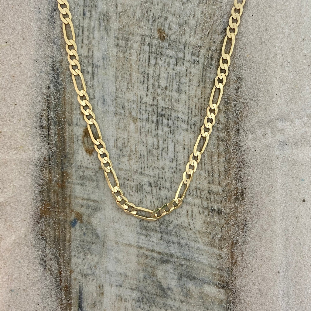 14k Yellow Gold Figaro Chain 20""