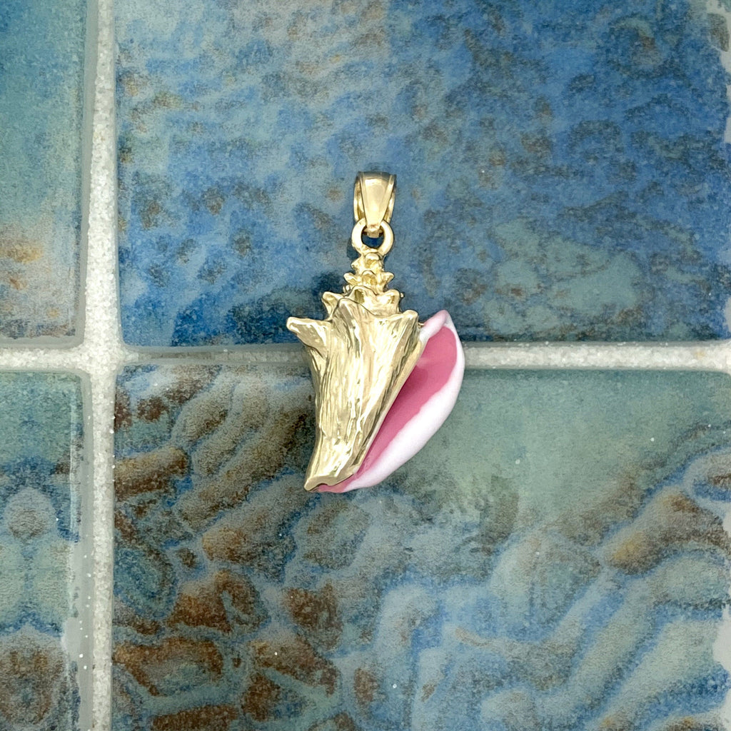 14k Yellow Gold Conch With Enamel Pendant - DePaulas