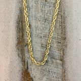 14k Yellow Gold Rope Chain 24""