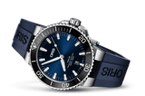 Oris Aquis Date Blue 43mm Dive Watch Rubber Strap 01 733 7730 4135-07 4 24 65EB