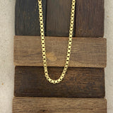 14k Yellow Gold Box Chain 20""