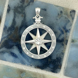 925 Sterling Silver Large Compass Rose