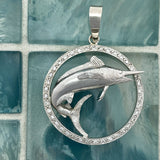 Platinum Marlin With Diamonds 1cttw Pendant