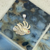 925 and 18k Gold Plating Lionfish Kovel Collection Pendant