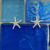 14k Yellow Gold Diamond .25cttw Starfish Post Earrings