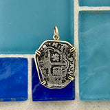 2 Reales Spain Mint Dated Circa 1580-1600 14k Yellow Gold Bezel Treasure Coin Pendant