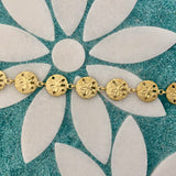 14k Yellow Gold Sand Dollar Bracelet 7 1/4""