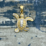 925 and 18k Gold Plating Turtle Kovel Collection Pendant